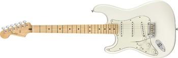 Fender Player Stratocaster LH : Player Stratocaster Left Handed, Maple Fingerboard, Polar White