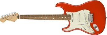 Fender Player Stratocaster LH : Player Stratocaster Left Handed, Pau Ferro Fingerboard, Sonic Red