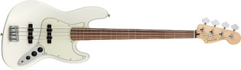 Fender Player Jazz Bass Fretless : Player Jazz Bass Fretless, Pau Ferro Fingerboard, Polar White