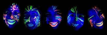 maquillage fluo visage exemple