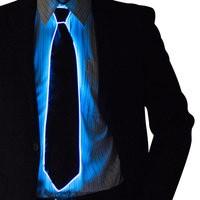 led blue tie