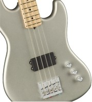 Flea Active Jazz Bass Front Body   Satin Inca Silver