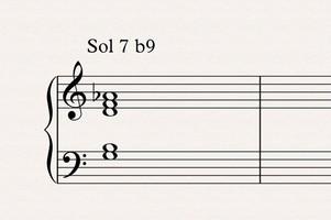 Théorie musicale : accord dominante 7 b9