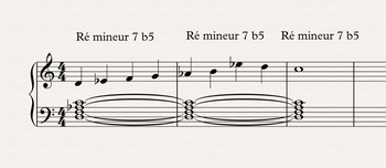 Théorie musicale : exemples locrien becarre 6