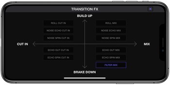 Pioneer WeDJ 2 for iPhone : wedj-for-iphone-transition-fx