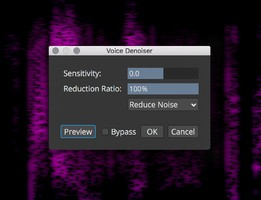 Steinberg SpectraLayers Pro 7 : Voice Denoiser Panel