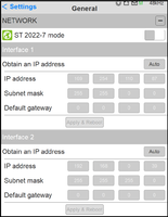 Anubis SPS 2 Network Settings