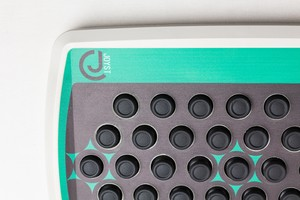 Product shot close on logo