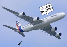 Voler avec une guitare