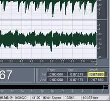 Durée en samples dans Audition