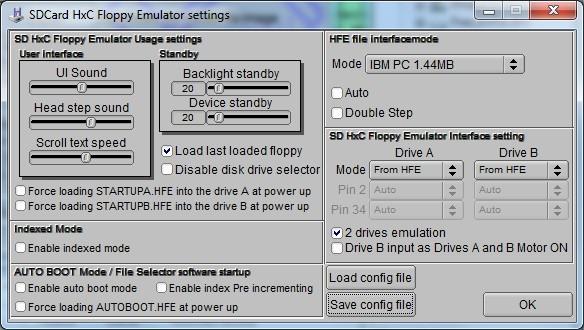 05 SDHxC Floppy Emu Settings