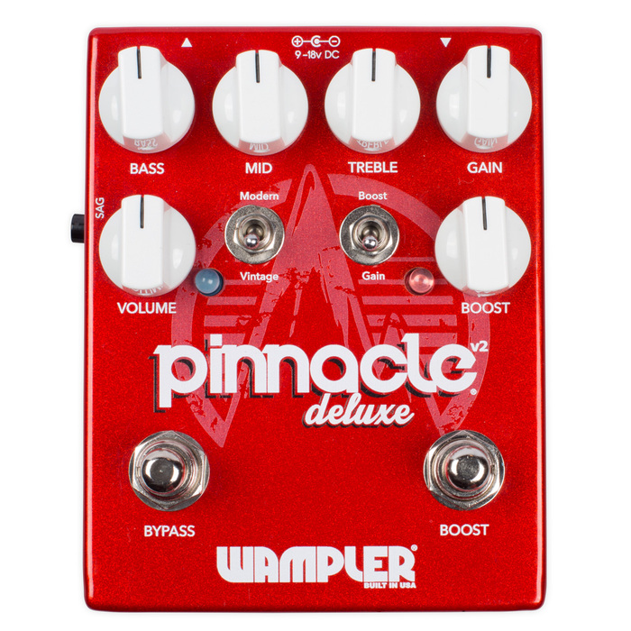 Wampler Pedals Pinnacle Deluxe V2 : pinnacle deluxe v2 face