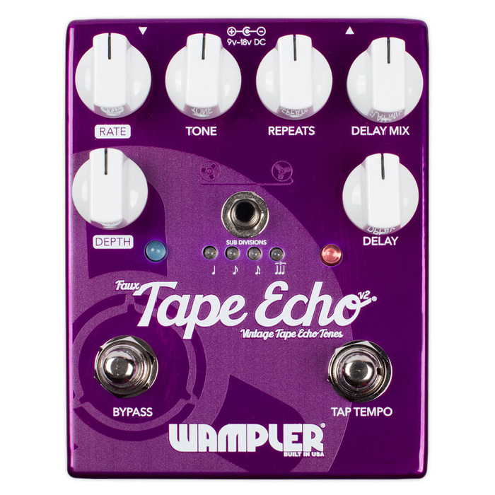 Wampler Pedals Faux Tape Echo V2 : FTEv2 2016 face