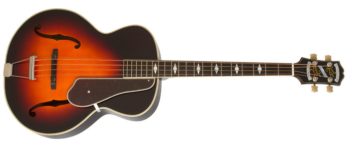Epiphone Masterbilt De Luxe Classic 4-String Bass Acoustic/Electric : POP MBCBass VS