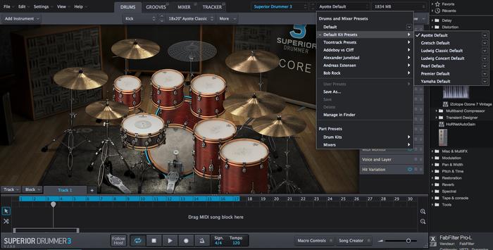 Toontrack Superior Drummer 3 : kits