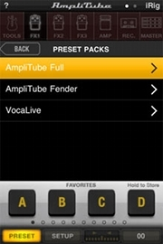 AmpliTube 2.2 for iPhone - Presets