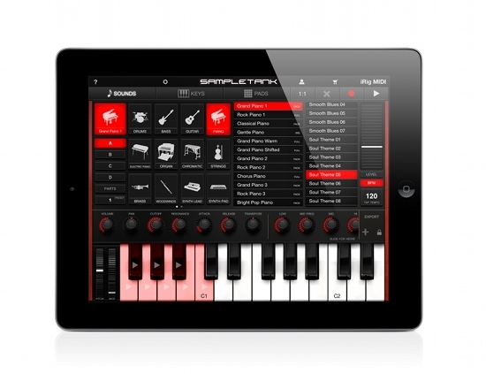 SampleTank 1.1 for iPad