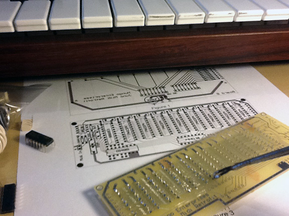 Soldering the chips of board A