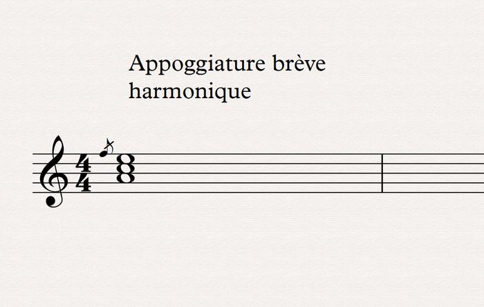 appoggiature brève harmonique