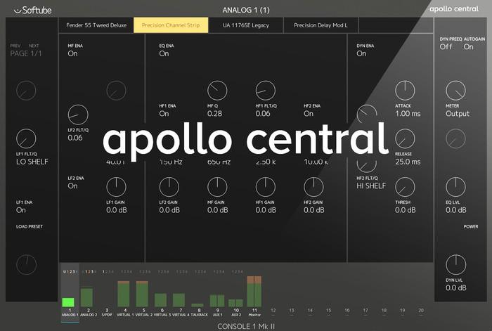 Softube Console 1 mkII : Apollo Central