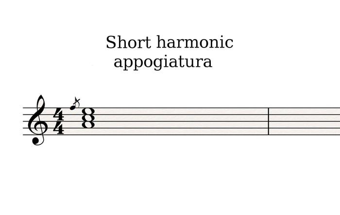Short harmonic appoggiatura