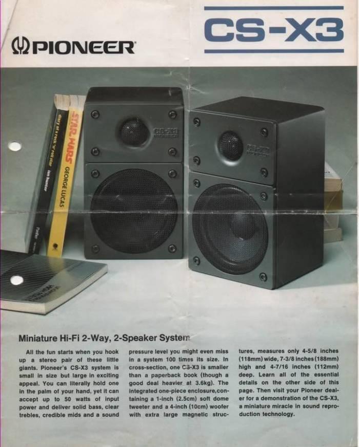 CS X3Speakers Brochure 1