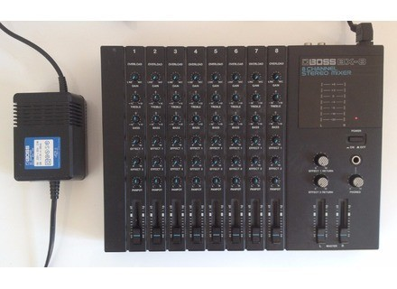 boss bx 8 8 channel stereo mixer