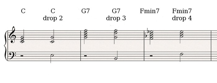 Drop voicings 1