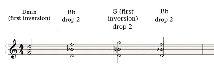 Drop voicings 4