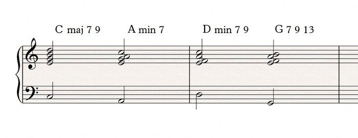 Interrupted cadence voicings