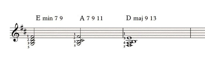 Left hand voicings 1