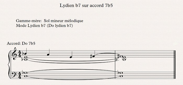 lydien b7 sur accord 7b5