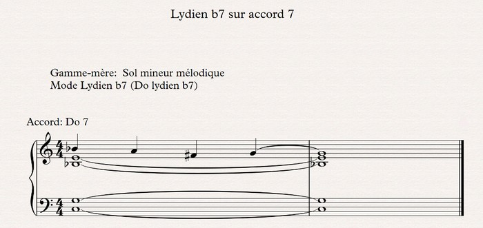 lydien b7 sur accord 7