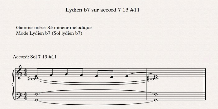 lydien b7 sur accord 7 13 #11