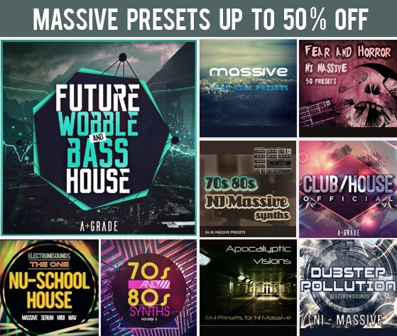 123creative sale on presets for NI Massive