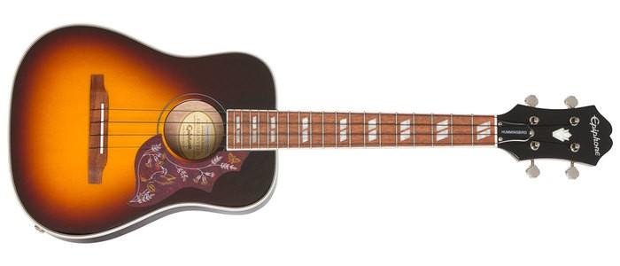Epiphone Hummingbird Tenor Acoustic/Electric Ukulele : POP HbirdTenUku TS