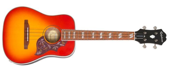 Epiphone Hummingbird Tenor Acoustic/Electric Ukulele : POP HbirdTenUku FC