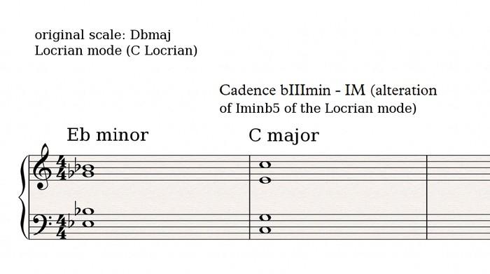 Locrian cadence 1