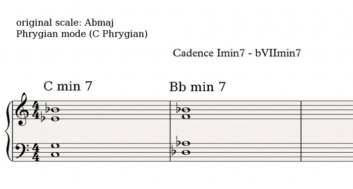 Phrygian cadence 3