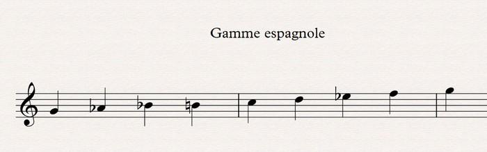 Théorie musicale : 04 gamme espagnole
