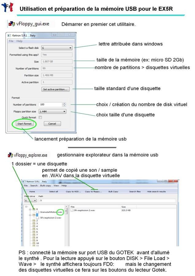 GOTEK notice disquette virtuel EX5R