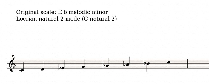 Half diminished scale 1