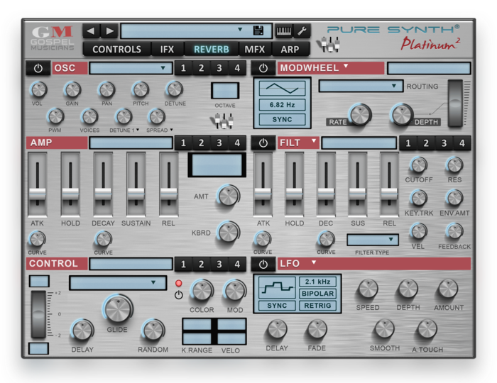PUure Synth 2 GUI