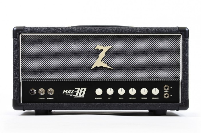 Dr. Z Amplification MAZ 38 NR MK. II Head : MAZ-38NR-head_blk-sp-1030x687