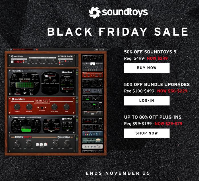 Black Friday SoundToys