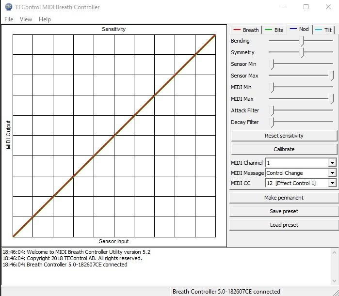 Sample Modeling French Horn and Tuba : 2 reglage dans le soft de chez tec ici le parametre NOD control en cc12