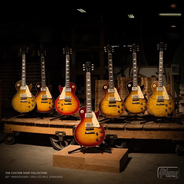 Gibson Custom Les Paul Big Group Shot