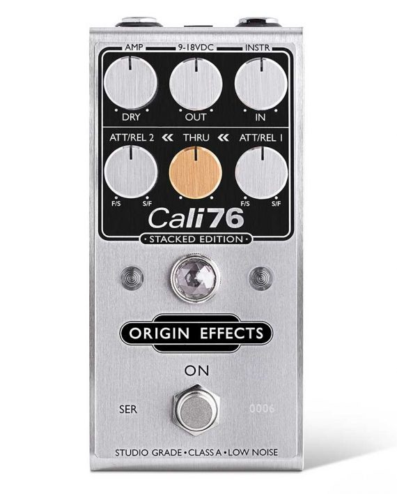 Origin-Effects-Cali76-Stacked-Edition-SE-Compressor-Limiter-Guitar-Pedal-Clean-Sustain-Boutique-Deluxe-Compact-Series-Parallel-Stompbox-Front-570x708