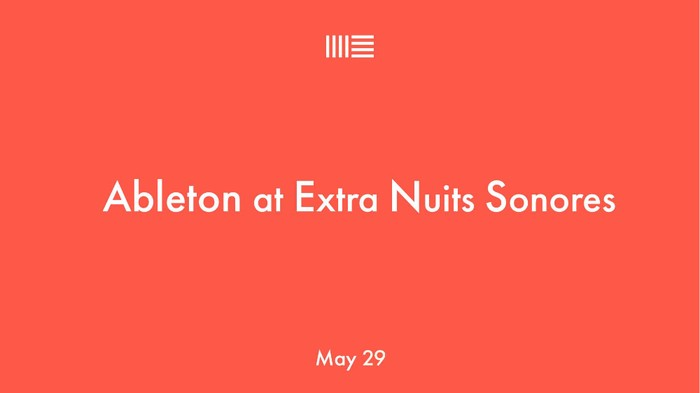 Visuel Ableton Nuits sonores