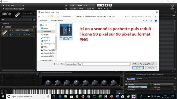 Steinberg HALion 6 : image 18 ici on a scanné la pochette puis reduit l icone 90 pixel sur pixel
